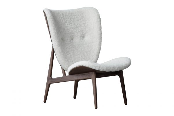 Elephant Chair, sheepskin dark stained