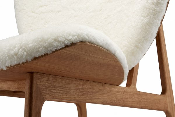 Elephant chair, Natural – Sheepskin – Off White, Detail