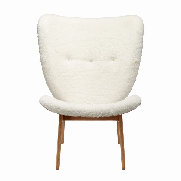 Elephant chair, Natural – Sheepskin – Off White, Front – Highres