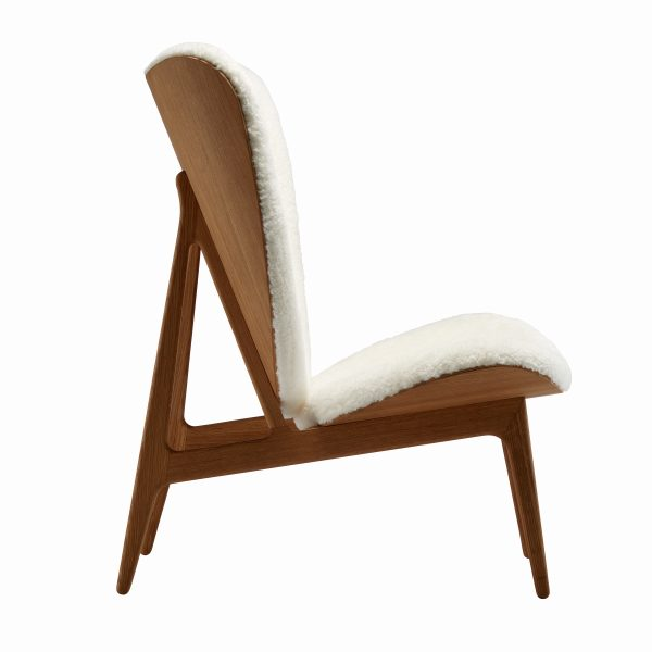Elephant chair, Natural – Sheepskin – Off White, Side – Highres