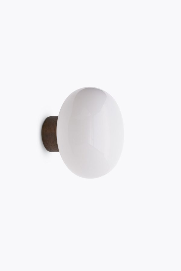 Karl-Johan-Wall-Lamp,-Opal-Glass-Grey-Background